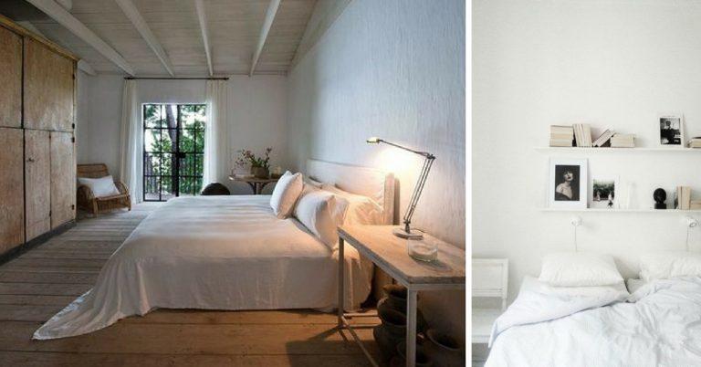 Slaapkamer Ideeen Grijs Wit.De 17 Mooiste Ideeen Voor Een Witte Slaapkamer