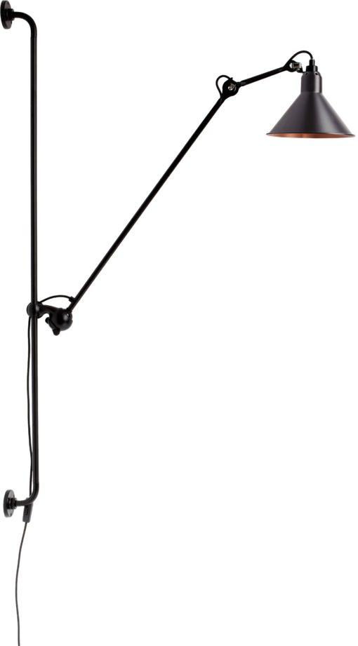 DCW éditions Lampe Gras N214 wandlamp zwart met koper
