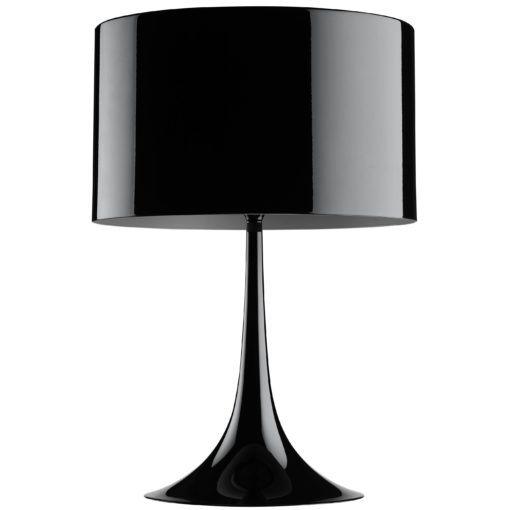Flos Spun Light T1 tafellamp zwart glans