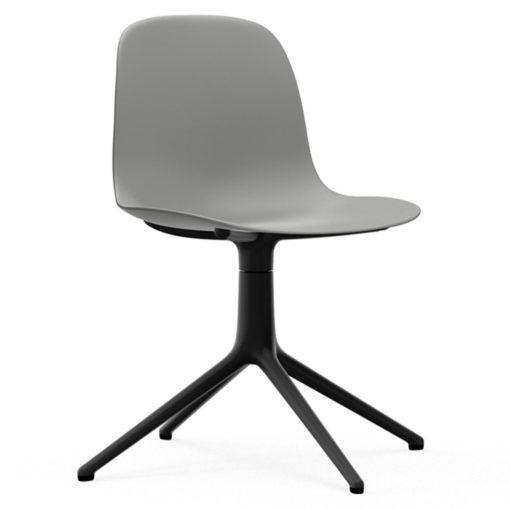 Normann Copenhagen Form Chair Swivel stoel met zwart onderstel grijs