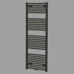 Blinq Altare R handdoekdesignradiator 120 x 60 cm (H X L) mat zwart