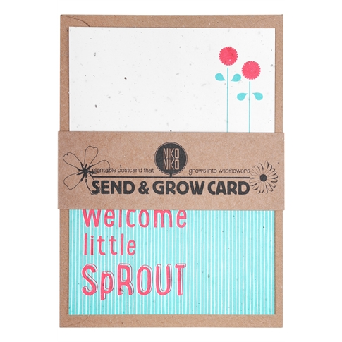 Plantbare Postkaart Welcome Little Sprout