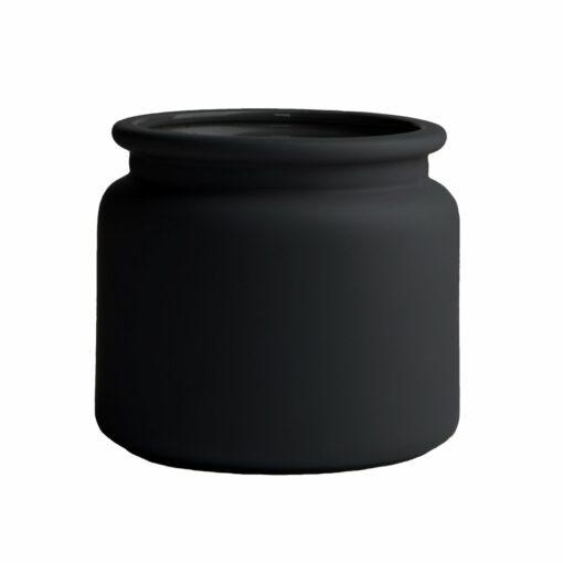 Pure bloempot zwart klein