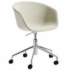 Hay About a Chair AAC53 bureaustoel onderstel gepolijst aluminium Coda 100