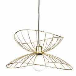 Ray plafondlamp Ø 45 cm geborsteld messing