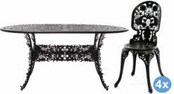 Seletti Industry Garden tuinset 152x90 tafel + 4 stoelen (chair)
