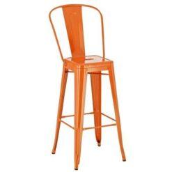 24Designs Barkruk Aspen - Zithoogte 77 Cm - Metaal - Oranje