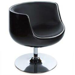 24Designs Draaibare Lounge Stoel Calypso - Zwart