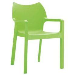 24Designs Tuinstoel Diva - Stapelbaar - Groen
