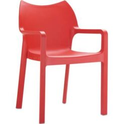 24Designs Tuinstoel Diva - Stapelbaar - Rood