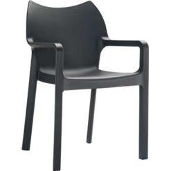 24Designs Tuinstoel Diva - Stapelbaar - Zwart