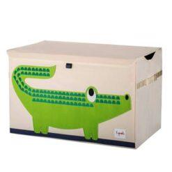 3 Sprouts Krokodil Speelgoedkist 61 x 38 cm