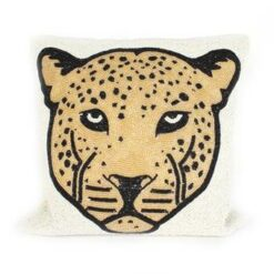 À la Leopard Head Kussen