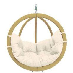 Amazonas Globo Chair Hangstoel - 1 Persoons - Hout - Naturel Kussens
