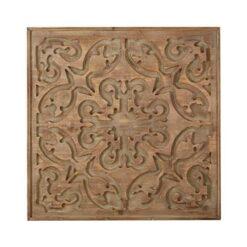 Art for the Home - Houten paneel - Bazaar Dark Wood Panel - 62x62 cm