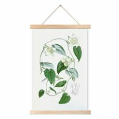 Art for the Home - Katoenen poster - Botanisch - Wit/groen - 40x60 cm