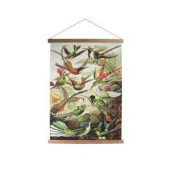 Art for the Home - Textiel Poster - Vogels - 60x80 cm