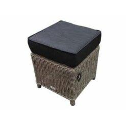 AVH-Collectie Bilbao XL voetenbank 40x40xH37 cm grijs