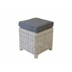 AVH-Collectie Dunham voetenbank 45x45xH50 cm wit grijs