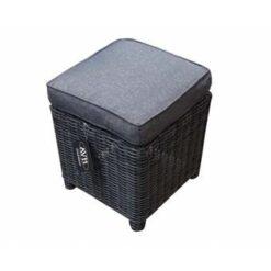 AVH-Collectie Dunham voetenbank 45x45xH50cm antraciet
