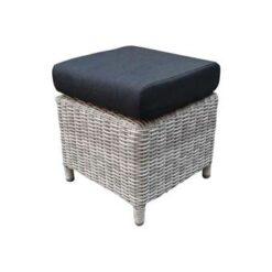 AVH-Collectie San Marino voetenbank 40x40xH45 cm wit grijs