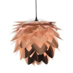 Beliani Andelle Plafondlamp Koper Kunststof