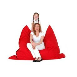 Beliani Bean Bag Big Zitzak Rood