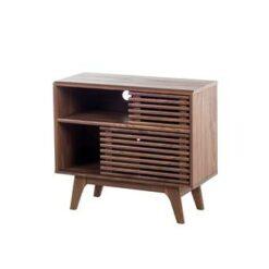 Beliani Cleveland TV-meubel Donker houtkleur Verlijmd hout