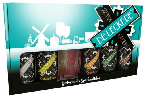 De Leckere Speciaalbierpakket 5 x 25 cl + Glas