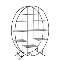 Duverger Design - Rek - ovaal - 7 legborden - zwart - metaal