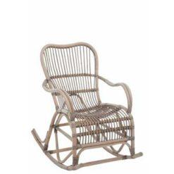 Duverger Nostalgic - Schommelstoel - rotan - grijs - 66x110x93cm