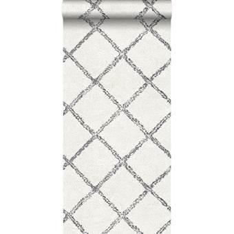 ESTAhome behang oosters berber tapijt zwart en wit