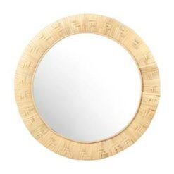 &k amsterdam Bamboo Weave Spiegel Ø 40 cm
