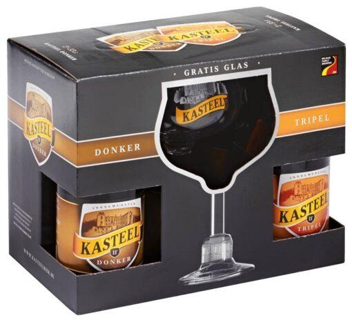Kasteel Bierpakket 4 x 33 cl + Glas