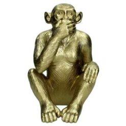Kersten Ornament aap goud 25x17x16cm