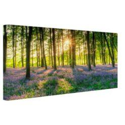 Kleurrijke bloemen bos Canvas 120x80