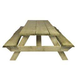MaximaVida boomstam picknicktafel 240 cm- 50 mm dik - geïmpregneerd