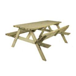 MaximaVida houten picknicktafel Economy 120 cm- 4 cm dik- opklapbare