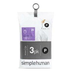 Simplehuman Code P Pocket Liners Afvalzakken 50-60 L