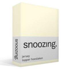 Snoozing jersey topper hoeslaken