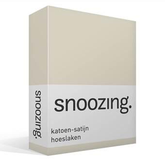 Snoozing katoen-satijn hoeslaken