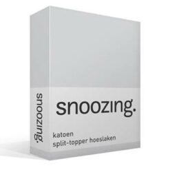 Snoozing katoen split-topper hoeslaken
