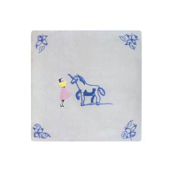 StoryTiles Lady and the Unicorn Wandtegel 13 x 13 cm