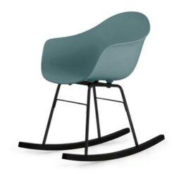 TOOU TA ER schommelstoel - Armstoel blauw - Onderstel zwart
