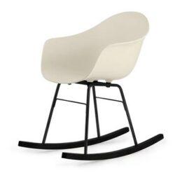 TOOU TA ER schommelstoel - Armstoel crème - Onderstel zwart