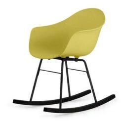 TOOU TA ER schommelstoel - Armstoel geel - Onderstel zwart