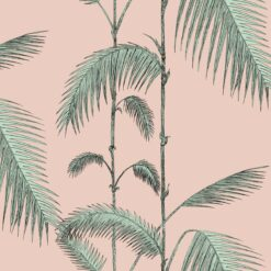 Palm Leaves behang roze