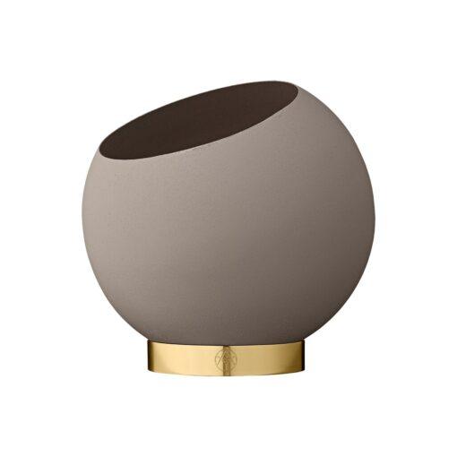 Globe bloempot Ø17 cm Taupe
