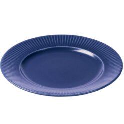 Groovy bord Ø 27 cm Blauw