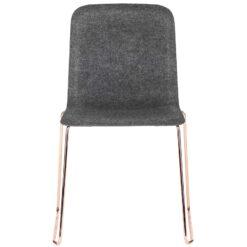 Lensvelt This chair felt stoel donkergrijs koper onderstel
